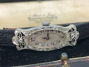Vintage 18k 18ct Solid Gold & Diamond Ladies Cocktail Watch