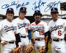 Dodgers Infield Steve Garvey Ron Cey Davey Lopes autographed 8x10 photo RP