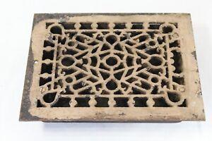 Antique Victorian Register Heating Grate Vent #50 Cast Iron Scrolls Rectangular