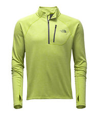 The North Face Men's IMPULSE ACTIVE 1/4 Zip Shirt L/S Running Top Chive Green M