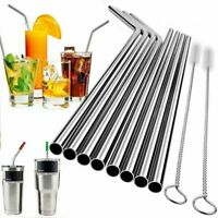 Stainless Steel Drinking Straws Metal Reusable 30 Oz Yeti Tumbler Clean Brush