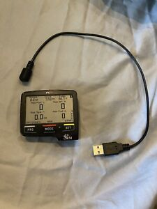 SRM PC8 GPS Cycling Computer - Black (ANT+ and Bluetooth) with Charging Cable