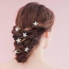 Fashion Women Wedding Hairpins Crystal U Shape Starfish Hair Clips Barrettes