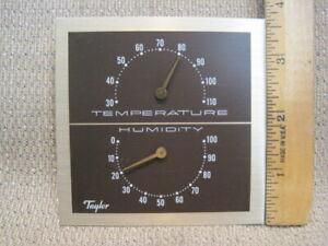 Vintage Taylor Analog Gauges for Weather Station – Hygrometer/Thermometer