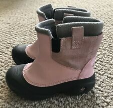 Girls Columbia Pink Snow Boots Size 12