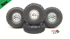 1/24, 1/18 scale r/c rock crawler Grabber tires & Chrome Wheels With Free Ship