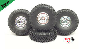 1/24 & 1/18 scale r/c rock crawler Grabber tires & Chrome Wheels With Free Ship!