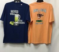 TOMMY BAHAMA Men's 2 Pack T-Shirts 2ND QUALITY Grilling BBQ, Small