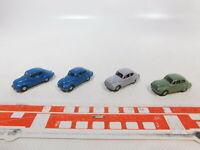 CA461-0,5# 4x Wiking 1:87/H0 Oldtimer/PKW/Auto/Automobil DKW F89/F 89, sehr gut