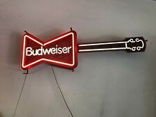 vintage budweiser Guitar neon sign Light Collectible Bar Beer Advertise