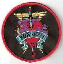 BON JOVI  Heart Design. Quality Iron on Patch Badge. Rare find LARGE INCH