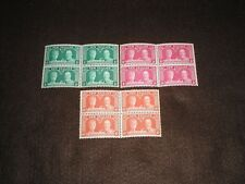 1935 New Zealand Stamps SILVER WEDDING SG573-575 BLOCKS OF 4 UNMOUNTED MINT MNH