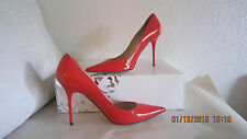 Jimmy Choo Abel Flame Red Patent Leather Classic Pump Shoes 391/2 US 9.5