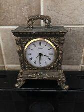 Carro Reloj De Latón Antiguo Wind Up Coral Art Deco
