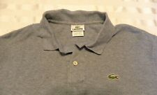Lacoste Devanlay Mens Blue/White Polo Shirt Gator Logo Size 7 100% Cotton