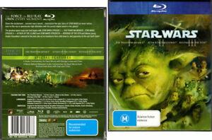 Star Wars I, II & III - Phantom, Clones & Revenge - Mint 3 Blu-rays in Slipcover