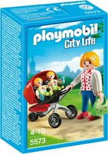 Playmobil 5573 mother with twin stroller Brand New see other preschool city life