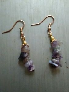 Handmade Handcrafted Amethyst Dangle Earrings