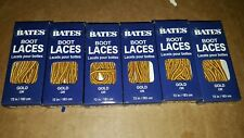 6 Pairs Bates Unisex Shoe Boot Laces 72 in Gold