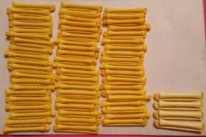 Vintage 63 pc Lot GOODY Hard Plastic Swing Arm Perm Curlers Rollers Rods