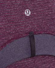 Lululemon DEFINE JACKET *Soft Mini Check - Black Swan Heathered Plum RARE sz 8
