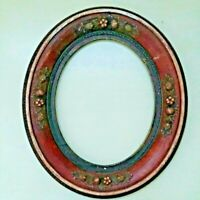 Victorian Antique Carved Wood Oval Gilt Nouveau Leaves Acorns Picture Frame