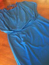 PRE-OWNED JESSICA SIMPSON AWESOME BLOUSON DRESS - 14W - COLOR BLUE IS SUBLIME !