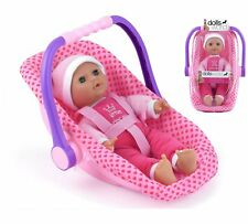Dolls World Baby Doll Isabella Rocking Car Seat Carry Handle Soft Bodied Doll
