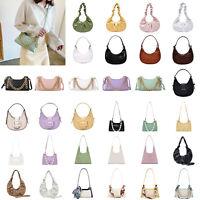 Pleated Leather Shoulder Bag Women Handbag Hobos Messenger Crossbody Pouch LOT