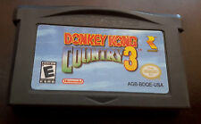 Donkey Kong Country 3 Nintendo Game Boy Advance GBA Authentic! Cleaned! Tested!