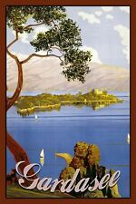 Blechschild Gardasee Metallschild Wanddeko 20x30 cm tin sign