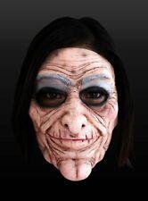 Alte Diva Halbmaske aus Latex Hexen Halloween
