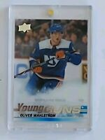 Oliver Wahlstrom 2019-20 UD Young Guns Acetate Clear Cut Upper Deck Rookie 🔥