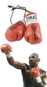 Autographed Mini Boxing Gloves Marvelous Marvin Hagler
