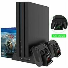BASE VERTICALE STAND MULTI PS4 SLIM FAT PRO RICARICA CONTROLLER LED PLAYSTATION