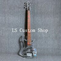 5 Strings Colorful LED Light Electric Bass Acrylic Body Crystal Guitar