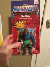 masters of the universe he-man trap jaw with ring (clear) Sealed, No Cracks