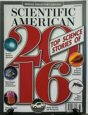 Scientific American Winter 2016 Top Science Stories of 2016 FREE SHIPPING sb