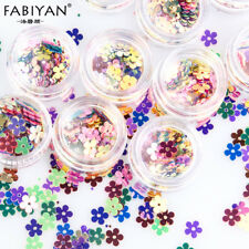 12 Pot Nail Art Flower Decoration Acrylic Sequin Paillette Tip Design Accessorie