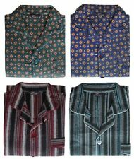 MENS WARM TRADITIONAL PYJAMA SET BRUSHED 100% COTTON PJ'S SIZES S TO 3XL