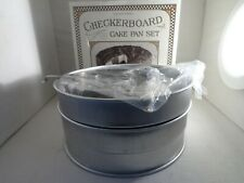 Williams-Sonoma Checkerboard Cake Pan Set 3-pieces - NEW