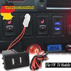 12V Auto Dual USB Ladegerät Buchse Licht Einbau-Steckdose 2.1A Für VW T4 Modelle