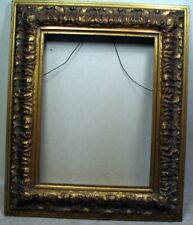 Quality antique victorian wood / resin composition picture frame 12 x 16 opening