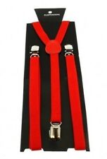 15MM ADJUSTABLE BRACES KIDS LADIES UNISEX ELASTIC Y-BACK SUSPENDERS CLIPON B3