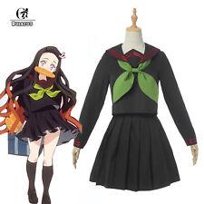 Demon Slayer Kimetsu no Yaiba Kamado Nezuko Sailor Uniform Dress Cosplay Costume