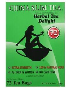 China Slim Tea Dieter's Delight extra srength 72 Tea Bags  EXPIRES 8/2023