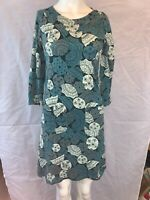 MISTRAL 3/4 Sleeve Length Cotton Dress.Umbrella Patternz Size UK 12