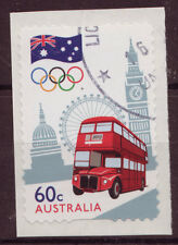 AUSTRALIA 2012 LONDON OLYMPICS S/ADHESIVE COIL STAMP FINE USED.