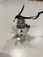 Swarovski Crystal Snowman With Silver Hat & Scarf Ornament