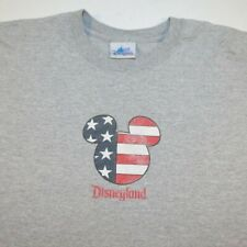 DISNEY DISNEYLAND MICKEY MOUSE USA AMERICAN FLAG TEE T SHIRT Sz Mens XXL